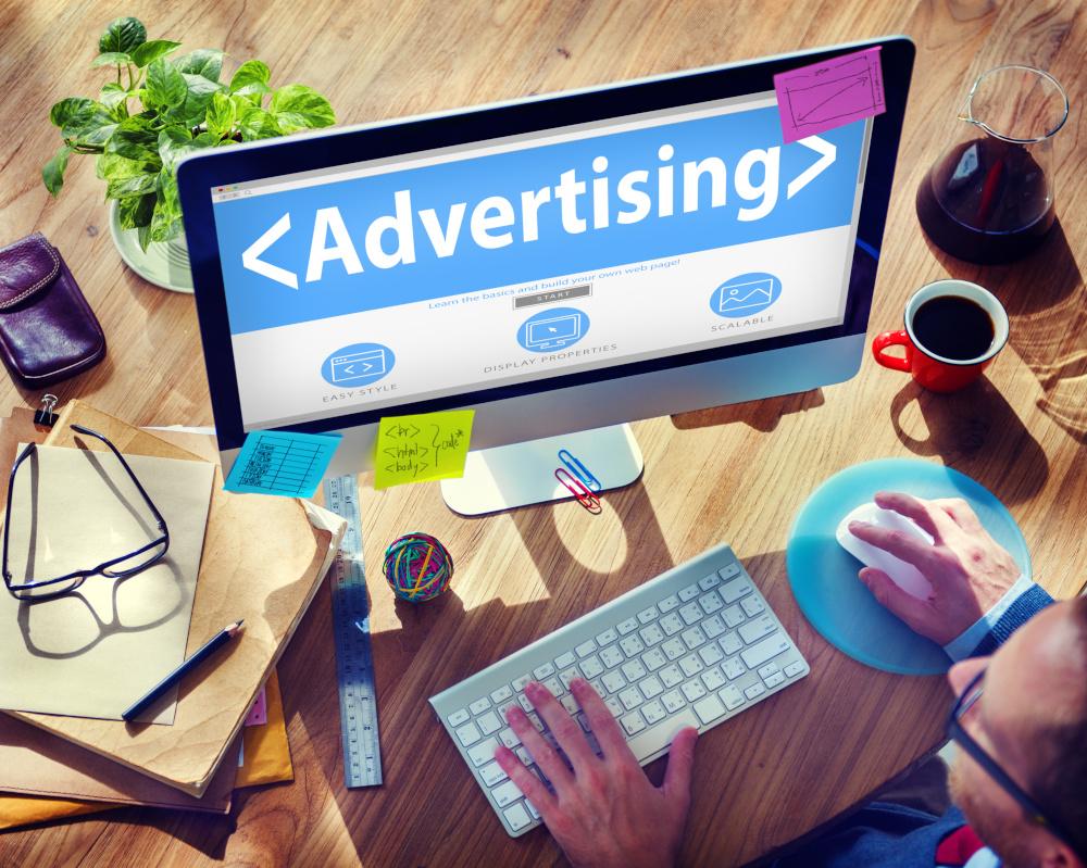 strona internetowa z reklama
