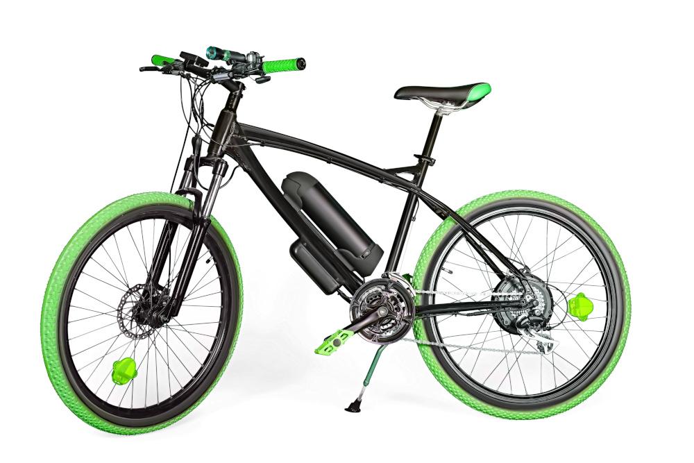 czarno zielony rower górski