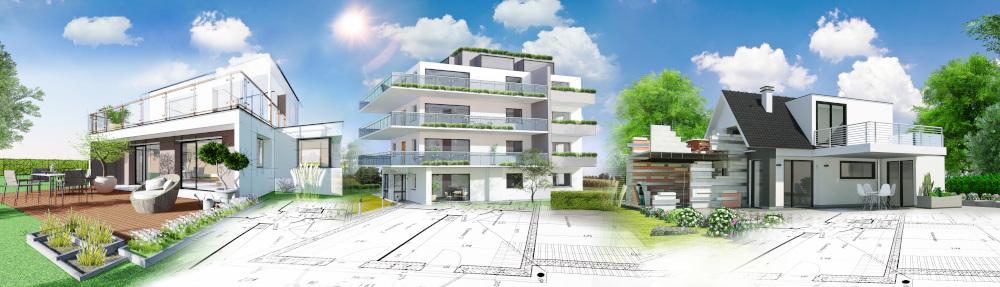 projekty domów i apartamentowca