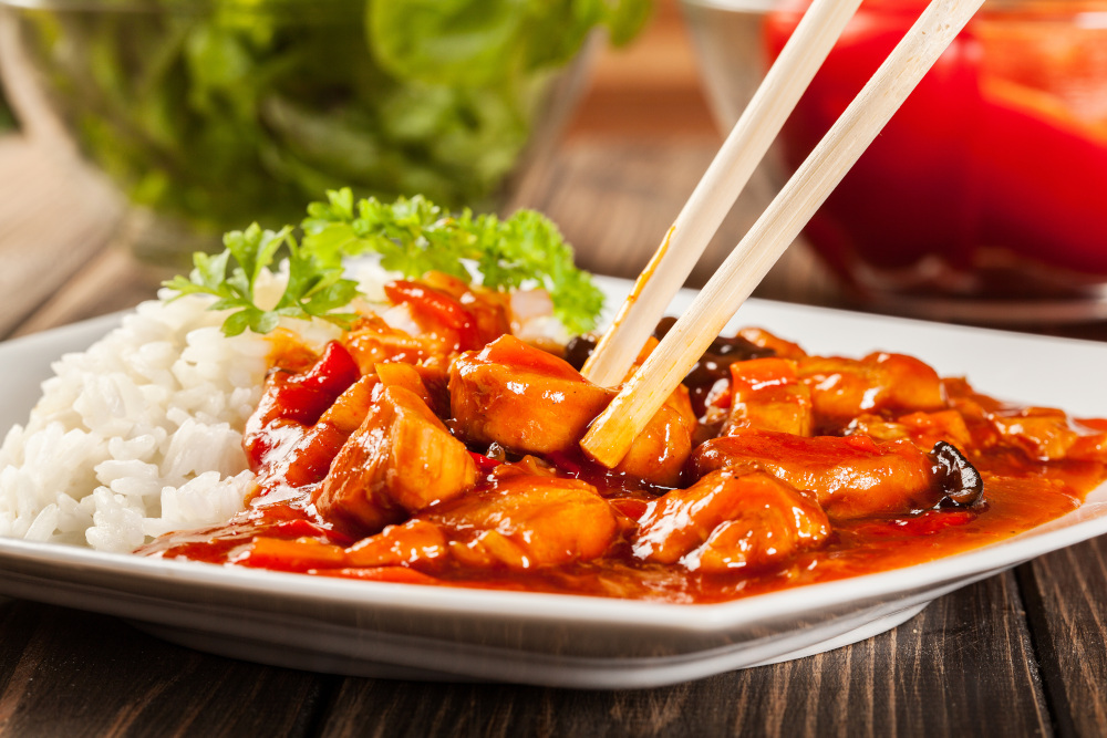 potrawka z kurczaka z ryżem